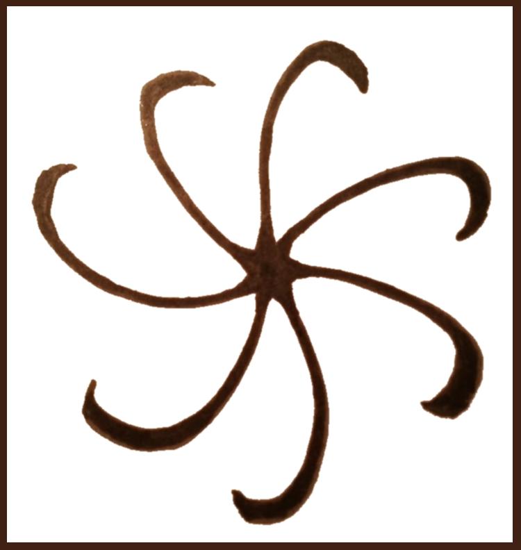 Der Tentakelstrudel, das Symbol des Gottes Daar